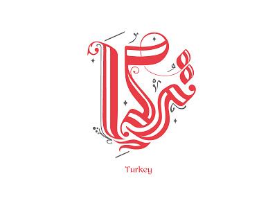 Turkey   تركيا arabic typography typography turkya turkish turkey design line arabic calligraphy calligraphy mark minimal clever