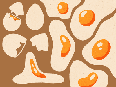 Egg. procreate retro illustration
