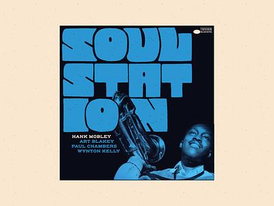 Soul Station – Hank Mobley handlettering lettering midcentury jazz vintage retro illustration
