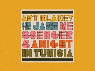 Night in Tunisia – Art Blakey and the Jazz Messengers art blakey jazz midcentury vintage procreate retro illustration