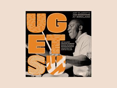 Ugetsu – Art Blakey & the Jazz Messengers illustration vintage procreate handlettering midcentury music retro art blakey jazz