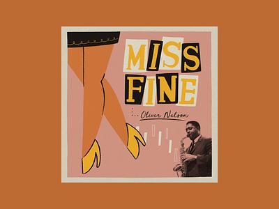 Miss Fine – Oliver Nelson midcentury jazz history vintage procreate retro illustration