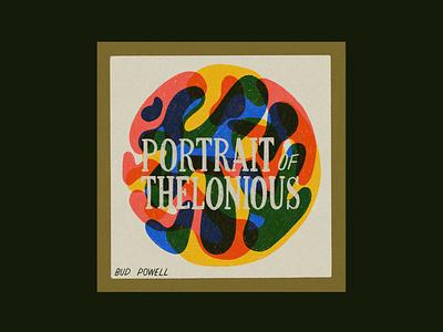 Portrait of Thelonious – Bud Powell music thelonious monk bud powell jazz retro illustration