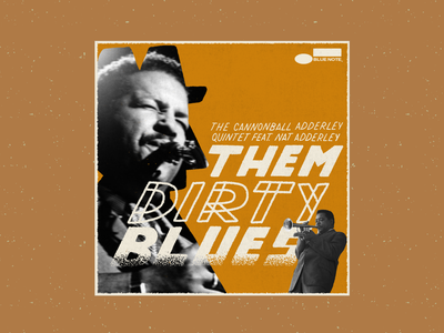 Them Dirty Blues – Cannonball Adderley music record cover album cover jazz vintage procreate retro illustration