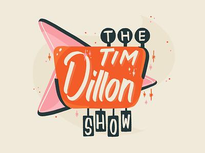 The Tim Dillon Show comedy tim dillon podcast vacation motel retro illustration