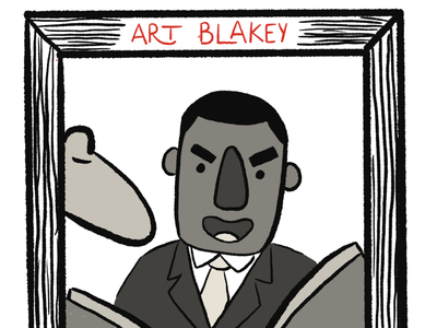 Art Blakey portrait music art blakey procreate drawing vintage retro illustration jazz
