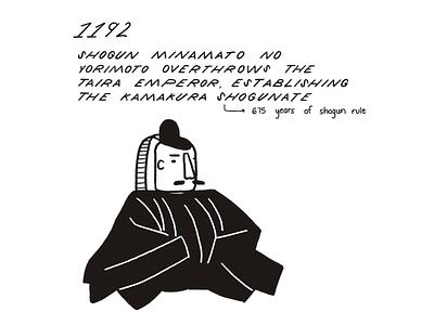 30 Day History Project – Day 11 japan shogun history procreate retro illustration
