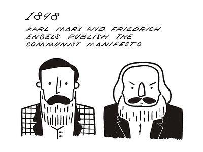 30 Day History Project – Day 19 marx history procreate retro illustration