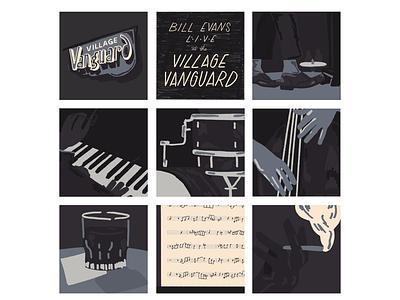 Live at the Village Vanguard bill evans village vanguard vanguard jazz vintage procreate retro illustration
