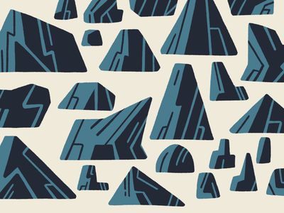 Drawin' Rocks mountain procreate retro illustration