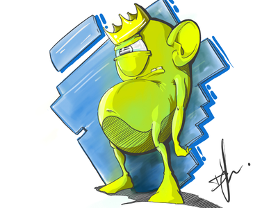 King troll illustration dznr troll