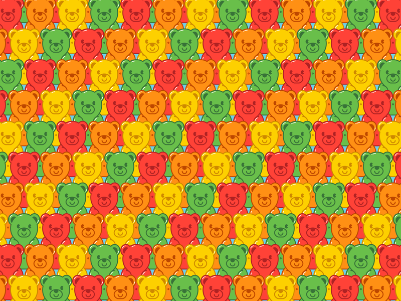 Gummy Bear Tile patrón pattern tile pandita gummy bear ilustración illustration