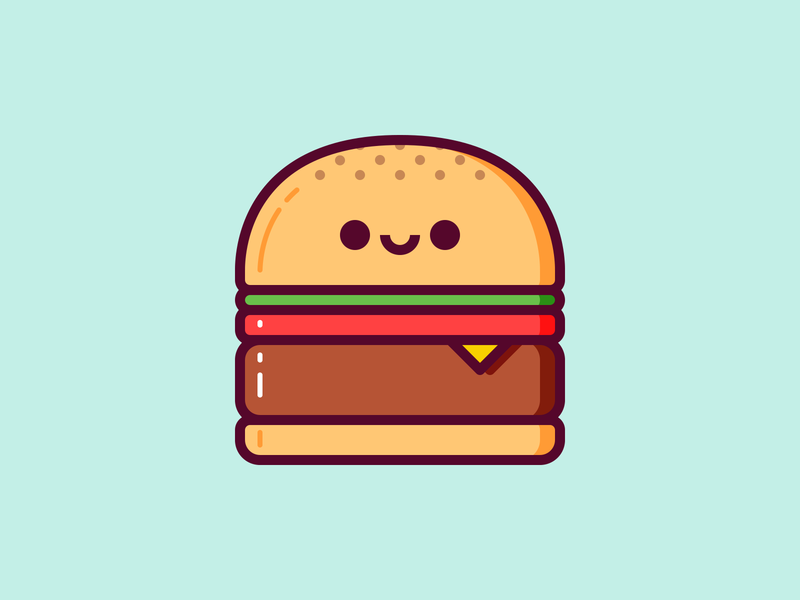 Burger burger kawaii hamgurguesa hamburger ilustración illustration