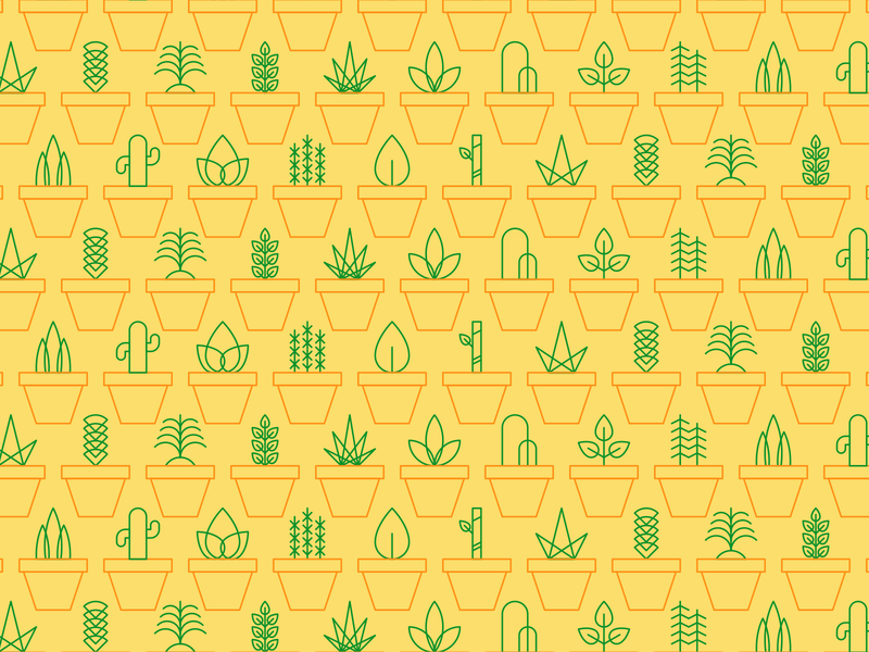 Plants Tile icon ilustración illustration plants plantas patron mosaico pattern tile