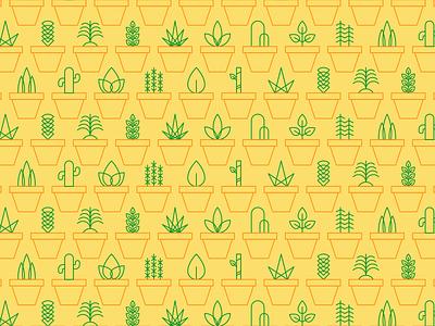 Plants Tile icon ilustración illustration plants plantas patron mosaico pattern tile