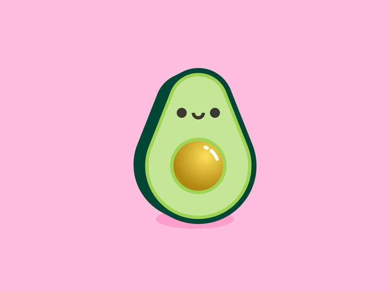 Aguacate ilustración illustration avocado aguacate