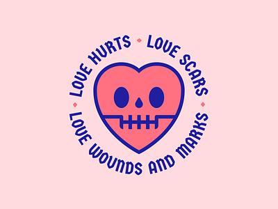 Love Hurts calavera nazareth san valentin valentine day craneo skull corazon heart amor love