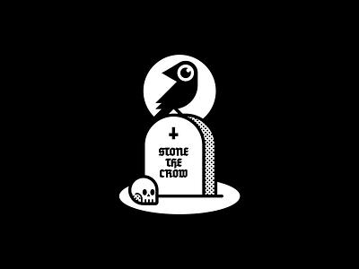 Stone the crow tumba lapida calavera craneo cuervo raven tombstone skull crow
