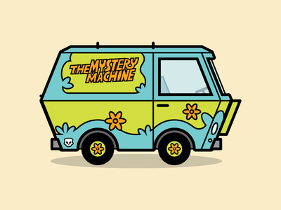 The Mystery Machine ilustración van icon car the mystery machine scooby doo illustration
