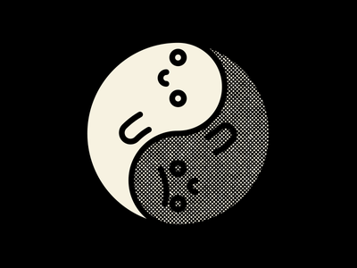 Boo Boo ilustración illustration fantasma ghost yin yang halloween
