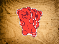 Pirate Gummy Bear Sticker