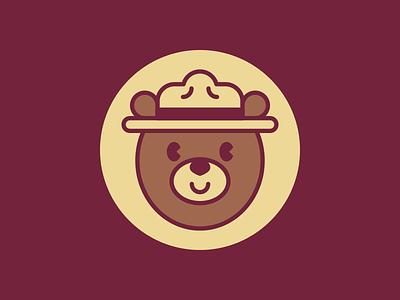 M is for Mountie stickermule canada mountie oso bear illustration ilustración