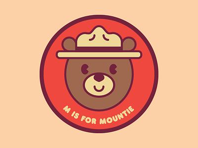 M is for Mountie oso mountie ilustración illustration canada bear