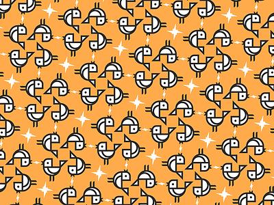 Thunderbirdie pattern mosaico tile patron pattern bird pájaro logo icon