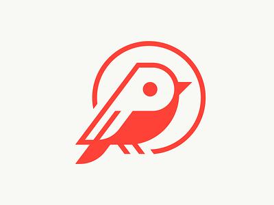 Petirrojo logo icon petirrojo robin p pajaro bird