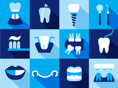 Dentistry iconography tooth dental clinic icons dentist illustration tooth brush smile health flat simple teeth paste