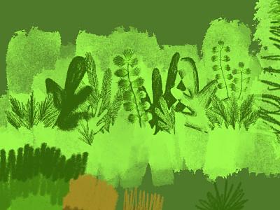 O coloring nature art nature plants illustration digital illustration design illustration art illustration