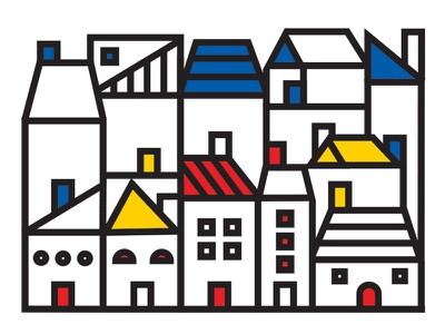 Houses design simple illustration