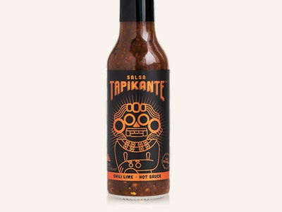 Hot sauce label spicy deity god mexican mexico label hot sauce