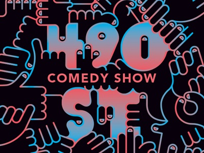 490 St. Comedy Show gradients comedy illustration poster