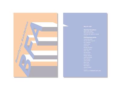 Postcard letters school typography design 3d postcard