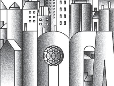 Local bilingual english spanish blancoynegro ilustracion ciudad city imigrantes texture vector immigrants design editorial book blackandwhite illustration bookcover dallas