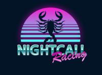 Nightcall Racing graphics sketch vector graphic logo car