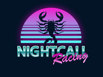 Nightcall Racing graphics sketch vector graphic logo car