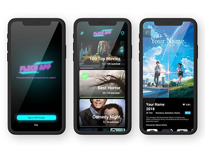 Flick App mobile app ui design