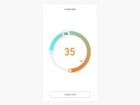 Minimal temperature control interface