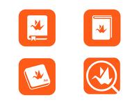 Company survival guide icon concepts