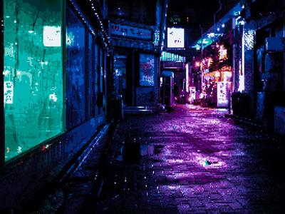 Neon Tokyo Pixel Art By Alex Knight Dribbble