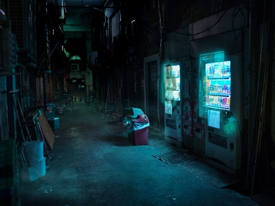 Hologram vending machines hologram technology future tokyo
