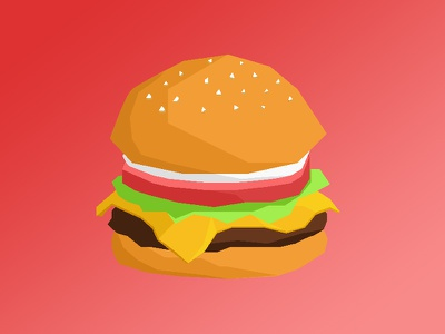 Tasty Burg sketch lowpoly design vector food