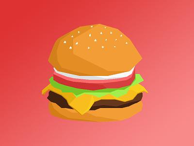 Tasty Burg sketch lowpoly design vector food