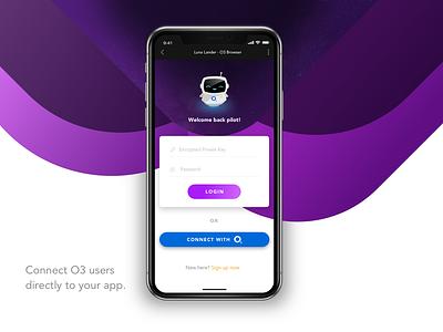 Quick Connect/Login Concept ux logo sketch concept mobile minimal ui app design