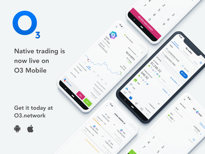 O3 Native trading ui mobile minimal app design