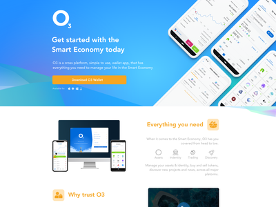 Landing page concept for Wallet App concept minimal app feature product desktop mobile wallet crypto landing web design