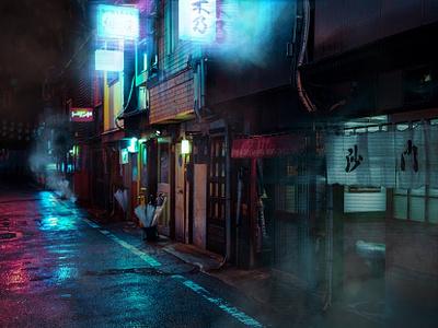 Artwork for cyberpunk project. photographersondribble background lights neon cyberpunk photography