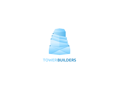 Tower builders logo concept illustration icon branding typography logo concept web vector minimal app design
